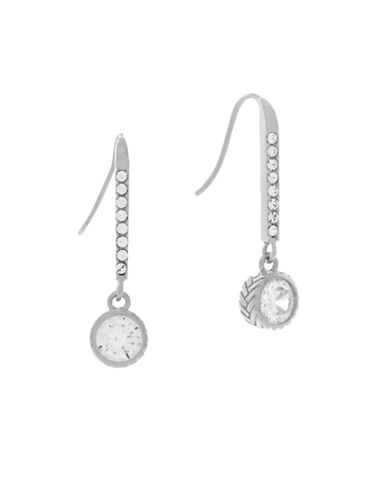 Cole Haan Starry Skies Silvertone Linear Drop Earrings-SILVER-One Size