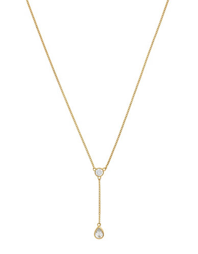Cole Haan Starry Skies 18K Goldplated Y Pendant Necklace-GOLD-One Size
