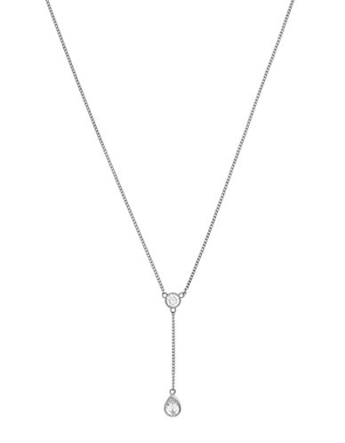 Cole Haan Starry Skies Silvertone Y Pendant Necklace-SILVER-One Size