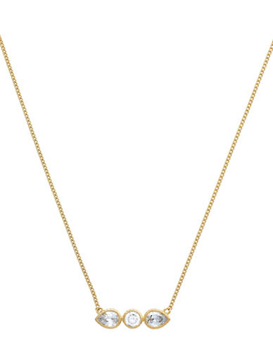 Cole Haan Starry Skies Goldtone Bar Pendant Necklace-GOLD-One Size