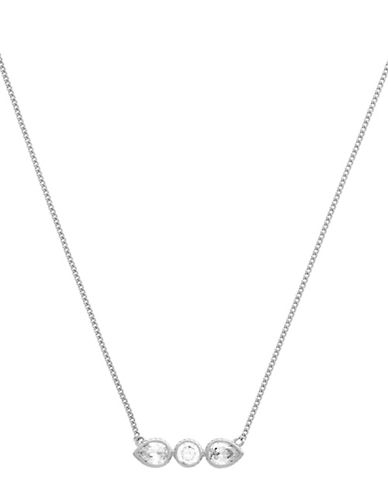 Cole Haan Starry Skies Silvertone Bar Pendant Necklace-SILVER-One Size
