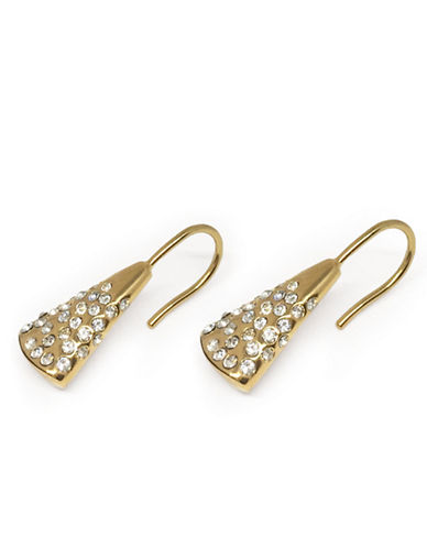 Botkier New York Pave Crystal Goldplated Teardrop Earrings-GOLD-One Size