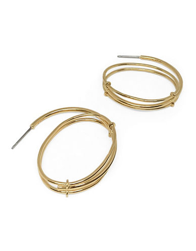 Botkier New York Goldplated Hoop Drop Earrings-GOLD-One Size