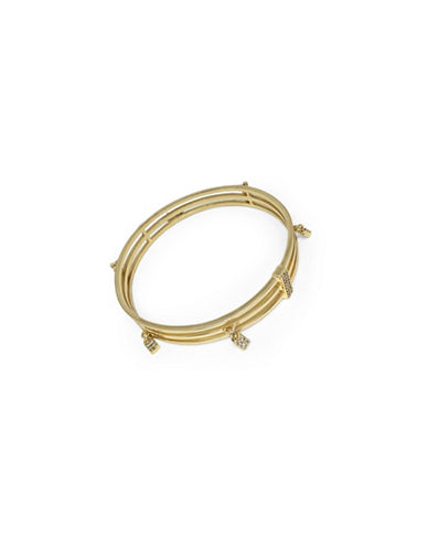 Botkier New York Neo Geo Pave Crystal Bangle-GOLD-One Size