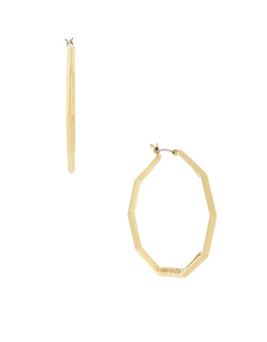 Louise Et Cie Octagon Hoop Earrings-GOLD-One Size