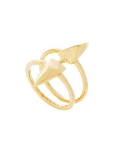 Botkier New York Spearheaded Goldtone Vertical Ring-GOLD-7
