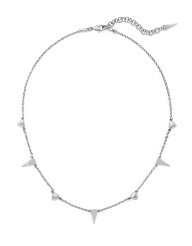Botkier New York Scattered Spear Necklace-SILVER-One Size