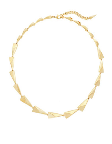 Botkier New York Spearheaded Goldtone Link Necklace-GOLD-One Size