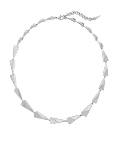 Botkier New York Spearheaded Link Necklace-SILVER-One Size