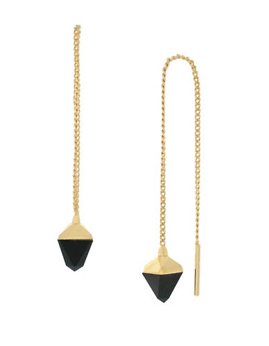 Botkier New York Stone Threader Earrings-GOLD-One Size