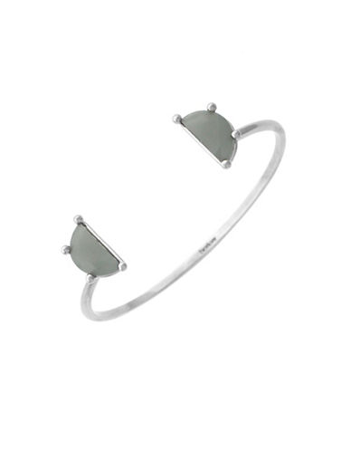 Botkier New York Split Personality Open Stone Cuff Bracelet-SILVER-One Size