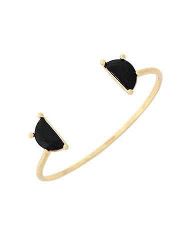 Botkier New York Open Stone Cuff Bracelet-GOLD-One Size