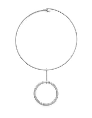 Vince Camuto Ring Collar Necklace-SILVER-One Size