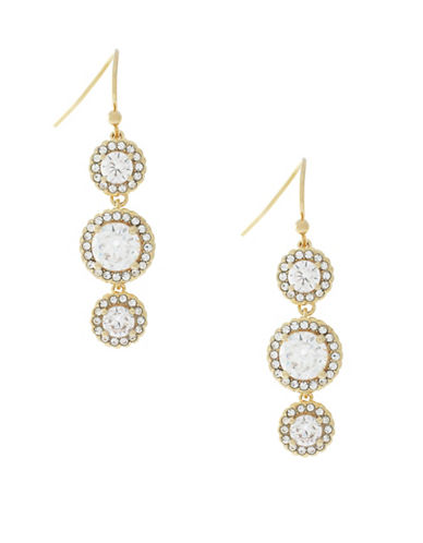 Cole Haan Cubic Zirconia Drop Earrings-GOLD-One Size