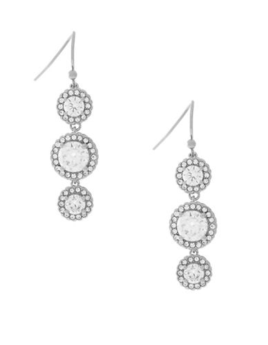 Cole Haan Cubic Zirconia Drop Earrings-SILVER-One Size