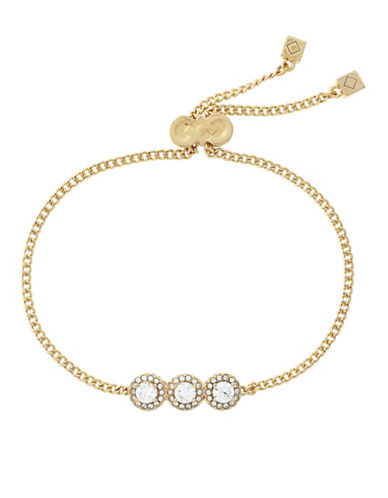 Cole Haan Three-Stone Goldplated Bracelet-GOLD-One Size