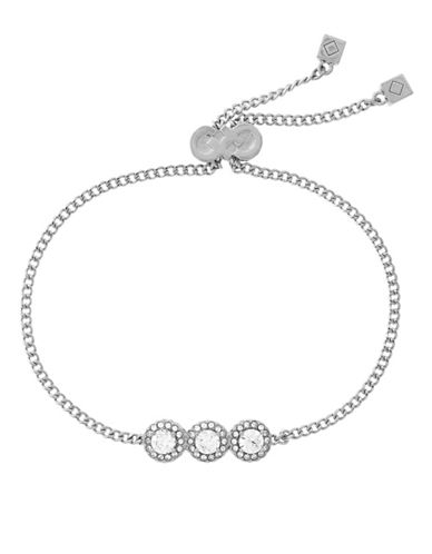 Cole Haan Three-Stone Silvertone Bracelet-SILVER-One Size