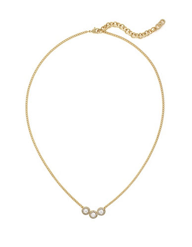 Cole Haan Cubic Zirconia Necklace-GOLD-One Size