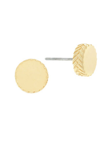 Cole Haan Disc Stud Earrings-GOLD-One Size