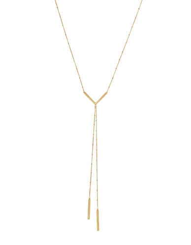 Cole Haan Goldtone V-Bar Y-Necklace-GOLD-One Size