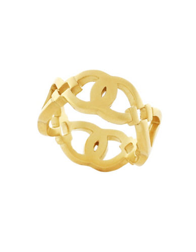 Cole Haan Logo Cut-Out Ring-GOLD-7