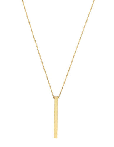 Cole Haan Goldtone Stick Pendant Necklace-GOLD-One Size