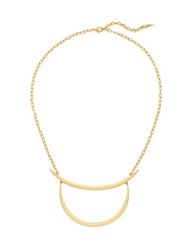 Botkier New York Geometric Frontal Necklace-GOLD-One Size