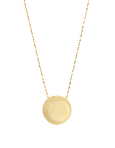 Botkier New York Round Pendant Necklace-GOLD-One Size