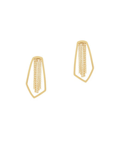 Botkier New York Open Geometric Chain Earrings-GOLD-One Size