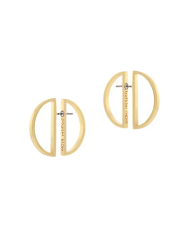 Botkier New York Half Moon Front-Back Earrings-GOLD-One Size