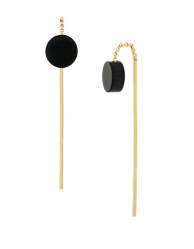 Botkier New York Resin Disc Pull-Thru Earrings-GOLD-One Size