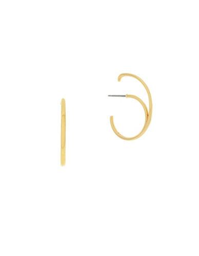 Botkier New York C Hoop Novelty Hook On Earrings-GOLD-One Size