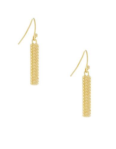 Cole Haan Linear Drop Earrings-GOLD-One Size