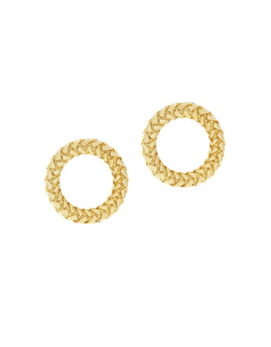 Cole Haan Open Round Stud Earrings-GOLD-One Size