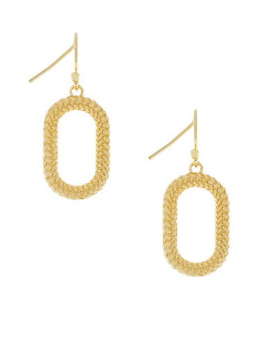 Cole Haan Open Oval Drop Earrings-GOLD-One Size