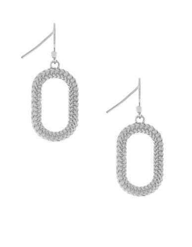 Cole Haan Open Oval Drop Earrings-SILVER-One Size