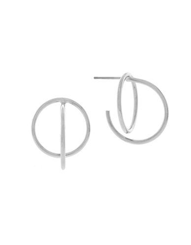 Cole Haan Geometric C Hoop Earrings-SILVER-One Size