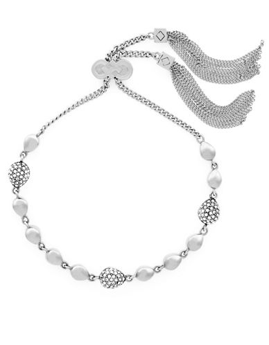 Cole Haan Swarovski Crystal Bracelet-SILVER-One Size