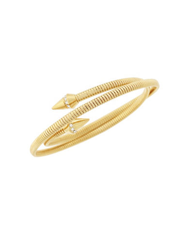 Vince Camuto Pave Coil Goldtone Bracelet-GOLD-One Size