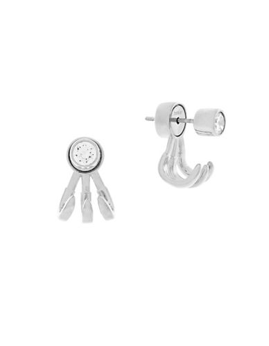 Botkier New York Cubic Zirconia Prong Earrings-SILVER-One Size