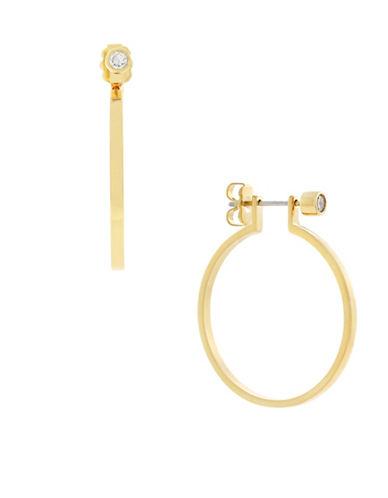 Botkier New York Hoop Stud Earrings-GOLD-One Size