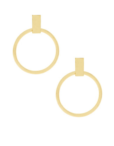 Botkier New York Large Ring Hoop Earrings-GOLD-One Size