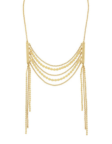 Cole Haan Metropolitan Club Frontal Necklace-GOLD-One Size