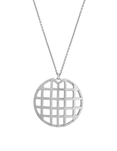 Botkier New York Caged Pendant Necklace-SILVER-One Size