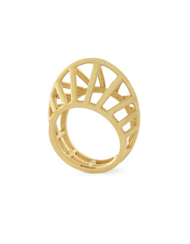 Botkier New York Open Caged Ring-GOLD-7