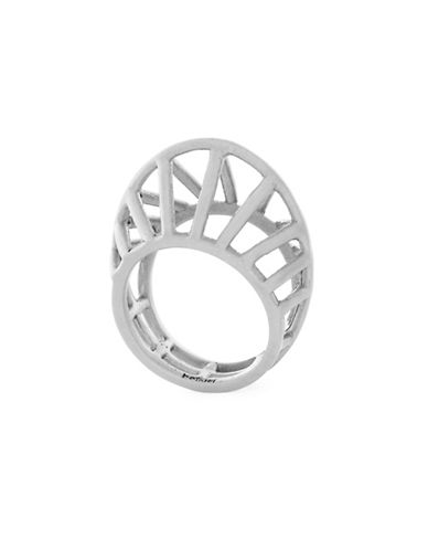 Botkier New York Open Caged Ring-SILVER-7