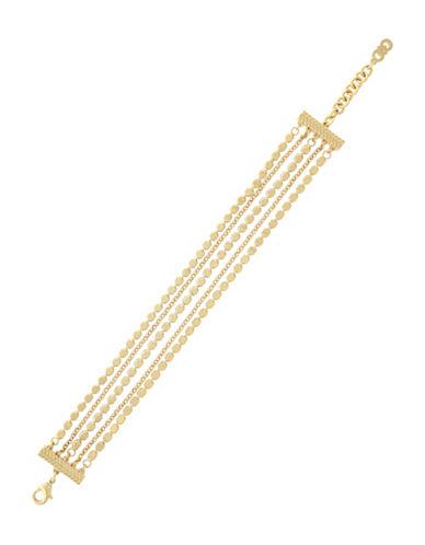Cole Haan Metropolitan Club Goldtone Chain Line Bracelet-GOLD-One Size