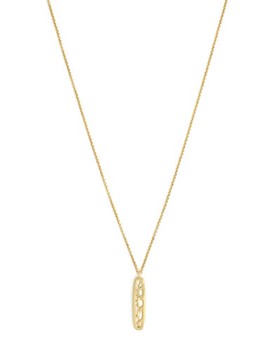 Cole Haan Banded Pendant Necklace-GOLD-One Size