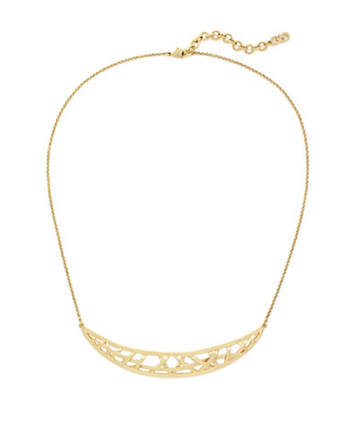 Cole Haan Banded Frontal Necklace-GOLD-One Size