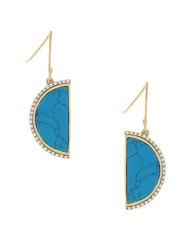 Cole Haan Spring Street Semi-Precious Stone Half Moon Drop Earrings-BLUE-One Size